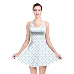Gray Of Pattern With Seashells Reversible Skater Dress