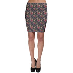 Colorful Tropical Floral Pattern Plumeria Hibiscus Flowers Bodycon Skirt by CoolDesigns