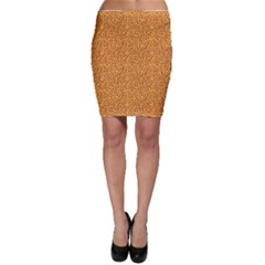 Orange African Style Pattern Bodycon Skirt by CoolDesigns
