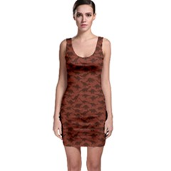 Dark A Pattern With Dinosaur Silhouettes Bodycon Dress by CoolDesigns