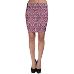 Red Pattern Of British Flag Bodycon Skirt by CoolDesigns