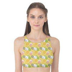 Green Pineapple Juce Pattern Colorful Tank Bikini Top