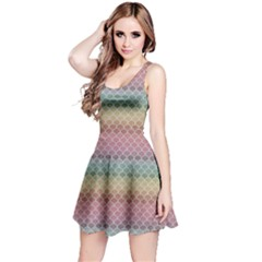 Pink Colorful Rainbow Chevron Pattern Short Sleeve Skater Dress by CoolDesigns