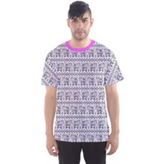 Purple Ethnic Vintage Elephant Business Men s Sport Mesh Tee