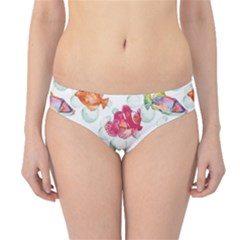 Colorful Sea Pattern Tropical Fish Medusa Ocean Hipster Bikini Bottom by CoolDesigns