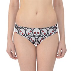 Black Skulls On A Black Hipster Bikini Bottom by CoolDesigns