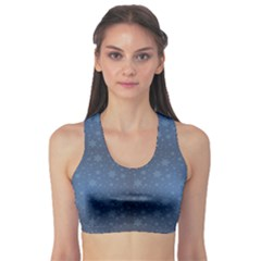 Blue Starry Sky Good Night Concept Women s Sport Bra by CoolDesigns