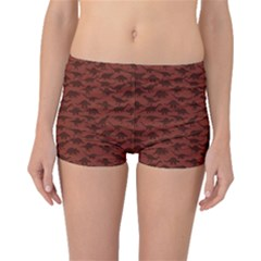 Dark A Pattern With Dinosaur Silhouettes Boyleg Bikini Bottoms by CoolDesigns