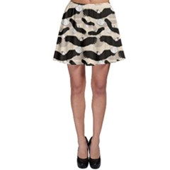 Black Pattern With Eagles Skater Dress