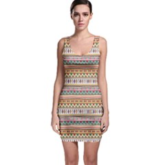 Colorful With Tribal Pattern Bodycon Dress by CoolDesigns