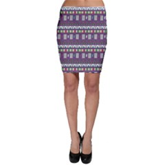 Purple With Tribal Pattern Bodycon Skirt
