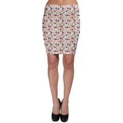 Colorful Pattern With Sushi Bodycon Skirt by CoolDesigns