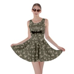 Green Camouflage Pattern Skater Dress
