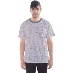 Gray Stress Pattern With Word Cloud Men s Sport Mesh Tee by CoolDesigns
