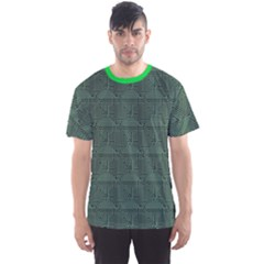 Green Pattern Of The Printed Circuit Board Men s Sport Mesh Tee by CoolDesigns