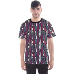 Dark Grunge Tribal Geometric Pattern Men s Sport Mesh Tee