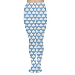 Blue Cute Cloud Pattern Tights by CoolDesigns