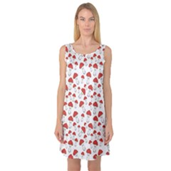 Red Fly Agaric Mushrooms Pattern Sleeveless Satin Nightdress by CoolDesigns
