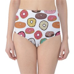 Colorful Donuts Pattern High Waist Bikini Bottom by CoolDesigns