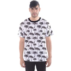 Black Palm Leaf Pattern Men s Sport Mesh Tee by CoolDesigns