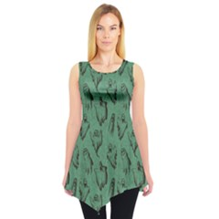 Green Halloween Seamless Design Pattern Sleeveless Tunic Top by CoolDesigns
