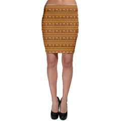 Orange Geometric African Ethnic Bodycon Skirt by CoolDesigns