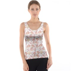 Pink Donut Pattern Tank Top by CoolDesigns