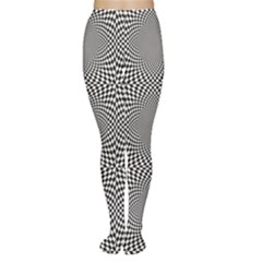 Black Black and White Chess Women s Tights by CoolDesigns