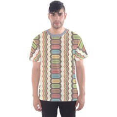 Colorful Ethnic African Beads Color Pattern Men s Sport Mesh Tee by CoolDesigns