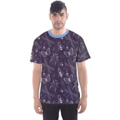 Blue Hand Drawing Insect Pattern Vintage Style Men s Sport Mesh Tee by CoolDesigns