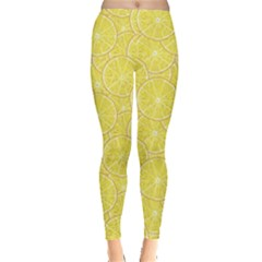 Green Lemon Slice Women s Leggings