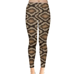 Black Python Snake Skin Pattern Women s Leggings by CoolDesigns