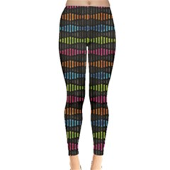 Black Neon Music Pattern Women s Leggings by CoolDesigns