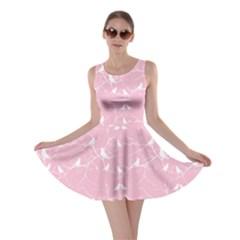 Pink Bird Love Gently  Skater Dress