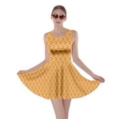 Yellow Colorful Honeycomb Skater Dress