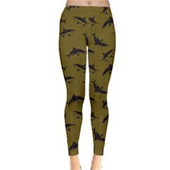 Olive Shark Leggings  by CoolDesigns