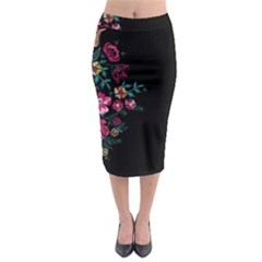 Pink In Dark Midi Pencil Skirt by CoolDesigns