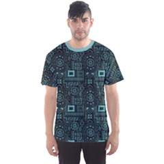Dark Aqua Aboriginal Indigenous African Men s Sport Mesh Tee by CoolDesigns
