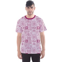 Wine Aboriginal Indigenous African Men s Sport Mesh Tee by CoolDesigns