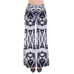 Black & White Tie Dye Palazzo Pants by CoolDesigns