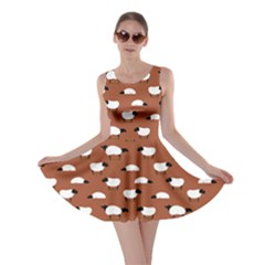 Brown Wolfs Dressed In Sheeps Skater Dress