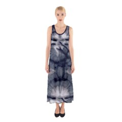 Navy Tie Dye Sleeveless Maxi Dress by CoolDesigns