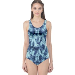 Dull Blue Tie Dye 2 One Piece Swimsuit by CoolDesigns