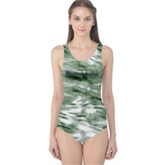 Green Tie Dye 2 One Piece Swimsuit