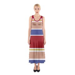Royal Stripes Sleeveless Maxi Dress by CoolDesigns