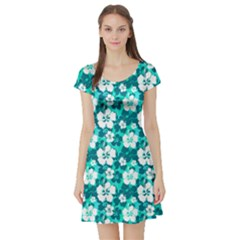 Mint Short Sleeve Skater Dress