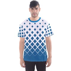 Blue Gradient Rhombuses Men s Sport Mesh Tee by CoolDesigns