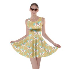 Mocha Carousel Horses Pattern Skater Dress  by CoolDesigns