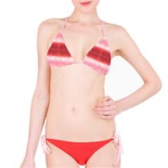 Red Stripes Tie Dye Bikini Set Bikini Set by CoolDesigns