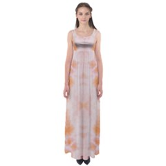 Orange Tie Dye Empire Waist Maxi Dress